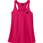 Ladies Solid Racerback Tank Watermelon