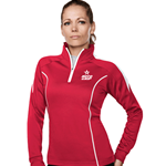Ladies Fairview Pullover Red