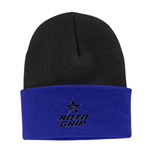 Roto Grip Folding Beanie - Black/ Athletic Royal