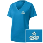 Ladies Racermesh V-Neck Blue