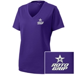 Ladies Racermesh V-Neck Purple