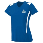 Ladies Premier V-neck Royal