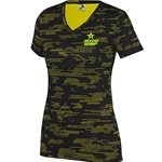 Ladies Sleet V-neck Black/Yellow