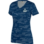 Ladies Sleet V-neck Navy/Silver