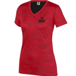 Ladies Sleet V-neck Red/Black