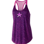 Ladies Space Dye Tank Purple