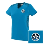 NEW Ladies Vigorous V-neck Blue