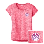 Ladies Electrify Sporty Tee Pink