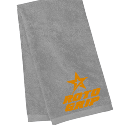 Roto Grip Velour Towel Silver/Orange