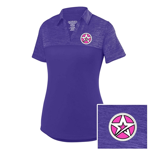 Ladies Shadow Polo Purple