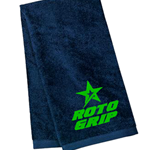 Roto Grip Velour Towel Navy/Green
