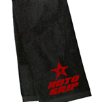 Roto Grip Velour Towel Black/Red