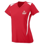 Ladies Premier V-neck Red