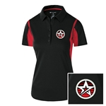 Ladies Integrate Polo Black/Red