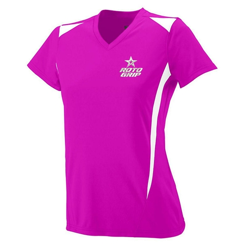 Ladies Premier V-neck Power Pink
