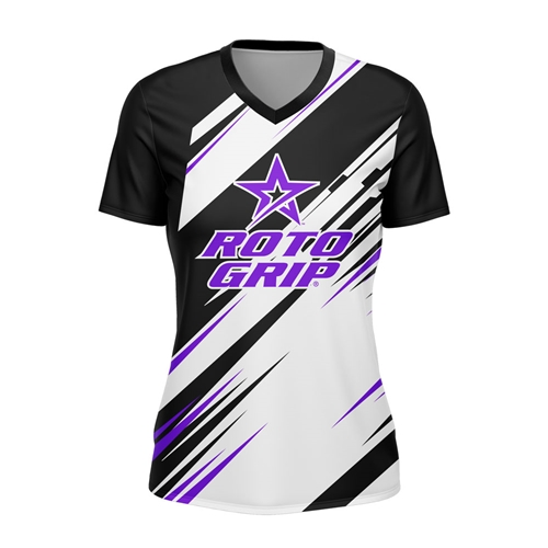 Roto Ladies Charge Jersey Blk/Pur/Wht