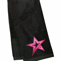 Velour Towel Roto Star Black/Pink