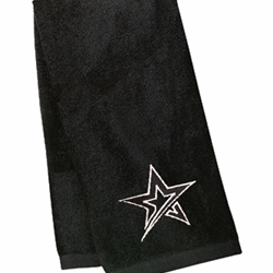 Velour Towel Roto Star Black/Black